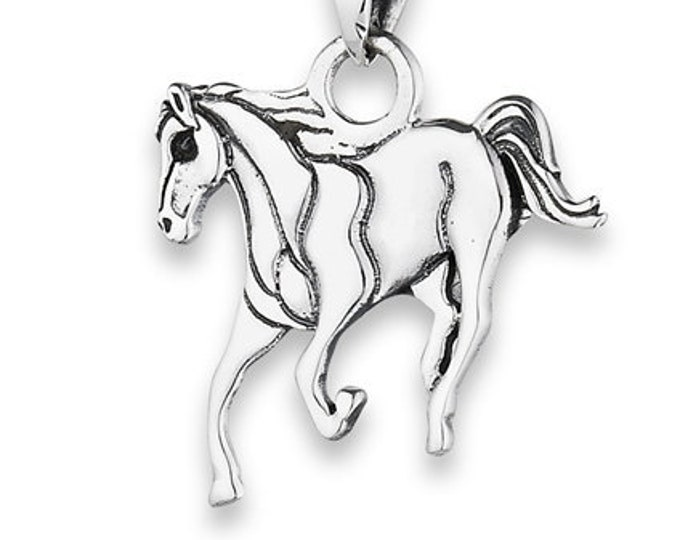 Horse Necklace, Equestrian Jewelry, Kentucky Derby, Mustang Pendant, Rodeo Jewelry, Horse Racing, Nature Jewelry, Animal Jewelry