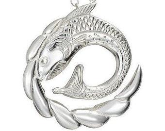 Salmon of Knowledge Necklace, Celtic Jewelry, Irish Jewelry, Fish Jewelry, Mom Gift, Anniversary Gift, Nautical Necklace, Sea Jewelry