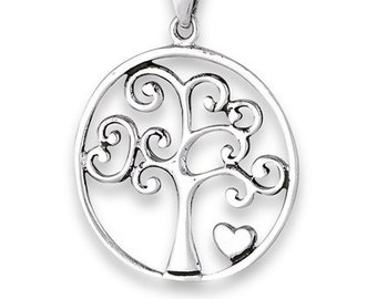 Tree of Life Necklace, Celtic Jewelry, Irish Jewelry, Heart Pendant, Anniversary Gift, Graduation Gift, Survivor Gift, Nature Necklace