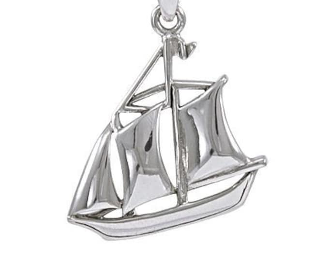 Schooner Necklace, Nautical Jewelry, Mother's Day Gift, Beach, Ship Jewelry, Friendship Gift, Best Friend, Sister, Anniversary, Retirement