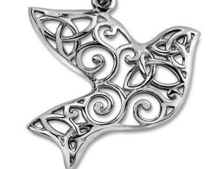 Trinity Knot Iona Abbey Dove Celtic Necklace