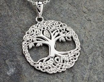 Tree of Life Necklace, Celtic Jewelry, Irish Jewelry, Tree Jewelry, Mom Gift, Anniversary Gift, Bridal Jewelry, Graduation Gift, Wife Gift