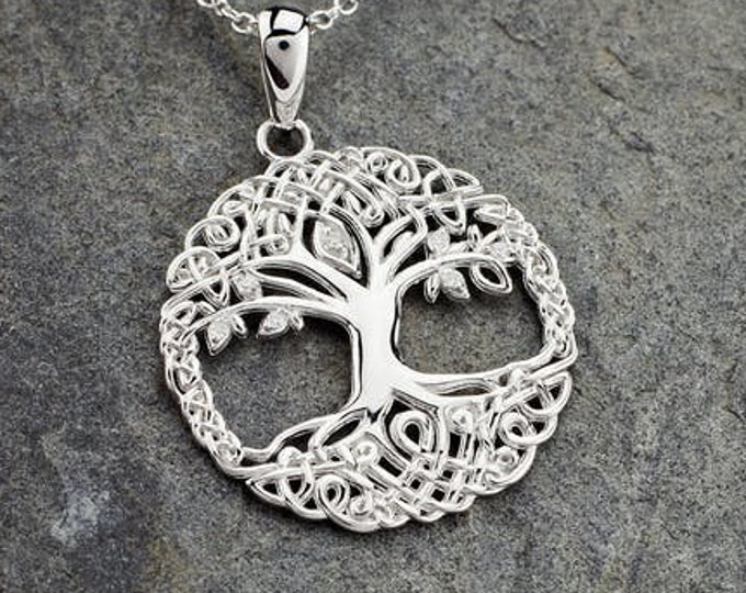 Tree of Life Necklace, Celtic Jewelry, Tree Necklace, Irish Jewelry, Mother's Day, Anniversary, Wedding Jewelry, Bridal Jewelry, Graduation