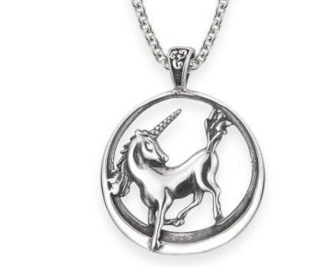 Unicorn Necklace, Scotland Jewelry, Fantasy Necklace, Gift for Her, Mythical Creature, Graduation Gift, Anniversary Gift, Scottish Gift