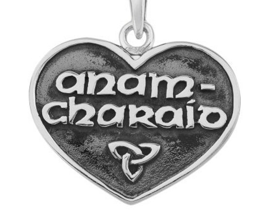 Celtic Love Necklace, Gaelic Jewelry, Scotland Jewelry, Soul Mate Pendant, Girlfriend Gift, Wife Gift, Anniversary Gift, Anam Charaid Gift