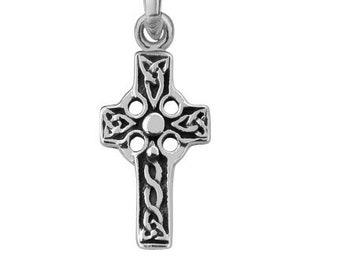 Petite Iona Scottish Celtic Cross Necklace, Confirmation, First Communion, Celtic Bride, First Cross, Irish Cross, Christian, Catholic Cross