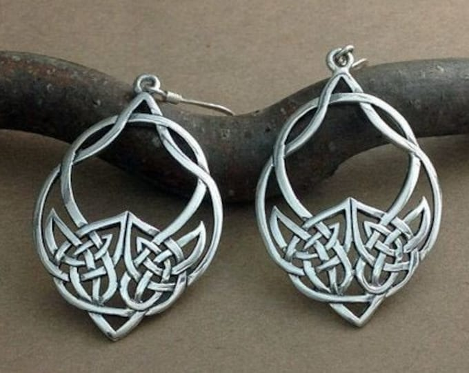 Featured listing image: Celtic Knot Earrings, Irish Jewelry, Celtic Jewelry, Mom Gift, Anniversary Gift, Wiccan Jewelry, Wife Gift, Scotland Jewelry, Love Knot