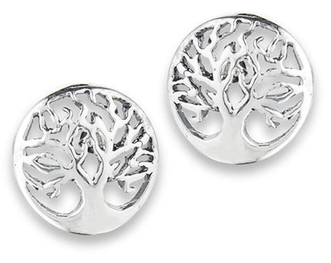 Tree of Life Stud Earrings, Tree Stud Earrings, Norse Jewelry, Wiccan Jewelry, Mom Gift, Sister Gift, Girlfriend Gift, Anniversary Gift