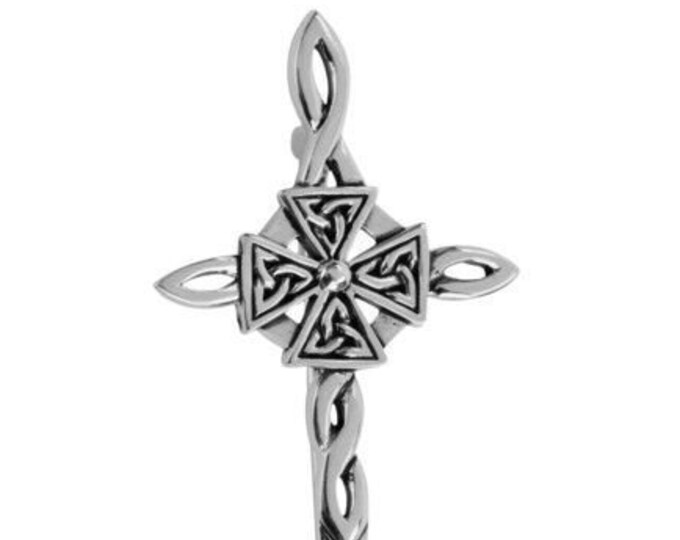 Celtic Cross Sword Kilt Pin, Celtic Wedding, Grooms Gift, Fathers Day Gift, Dad, Husband, Gift for Him, Valentine's Day, anniversary pin