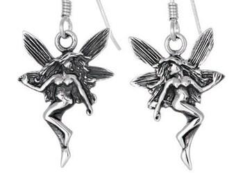 Celtic Wee Fairy Sterling Silver Earrings