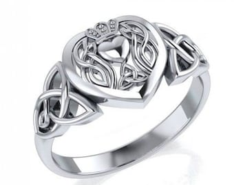 Claddagh Ring, Celtic Jewelry, Irish Jewelry, Celtic Knot Jewelry, Irish Ring, Irish Dance Gift, Anniversary Gift, Bridal Jewelry