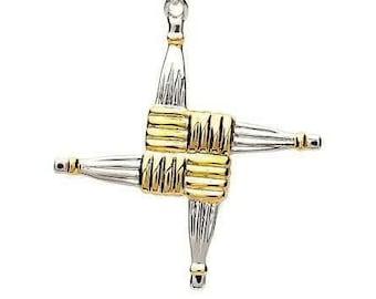 Saint Bridget's Cross Celtic Necklace, Celtic Cross, Ireland Cross, First Communion, Bride Cross, Confirmation Cross, Cross for Her, Easter