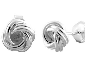 Celtic Knot Stud Earrings, Irish Jewelry, Celtic Jewelry, Anniversary Gift, Bridal Jewelry, Norse Jewelry, Love Knot Jewelry, Wiccan Jewelry