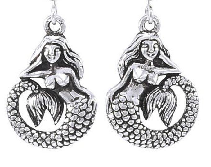 Mermaid Earrings, Ocean Jewelry, Sea Jewelry, Beach Jewelry, Nautical Jewelry, Sister Gift, Mom Gift, Girlfriend Gift, Best Friend Gift