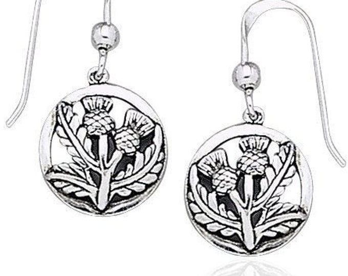 Thistle Earrings, Celtic Earrings, Scotland Jewelry, Outlander Jewelry, Girlfriend Gift, Sister Gift, Mom Gift, Nature Jewelry