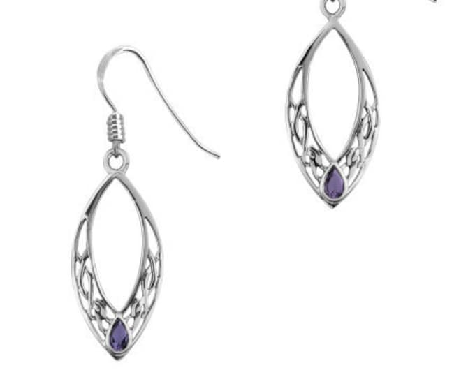 Celtic Knot Earrings, Irish Jewelry, Celtic Jewelry, Wiccan Jewelry, Amethyst Jewelry, Gift for Her, Anniversary Gift, Mom Gift, Wife Gift