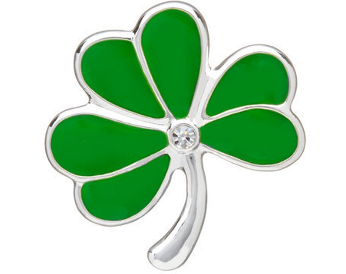 Shamrock Celtic Brooch, Clover Pin, Celtic Pin, Irish Pin, Coat Pin, Scarf Pin, Celtic Jewelry, Clover Brooch, Nature Jewelry, Enamel Pin
