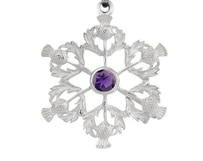 Scotland Thistle Flower Celtic Necklace