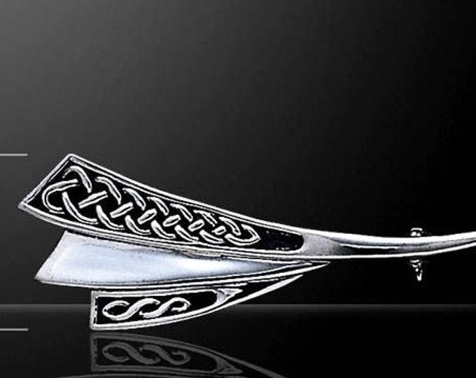 Celtic Knot Brooch, Celtic Jewelry, Irish Jewelry, Scarf Pin, Irish Pin, Celtic Pin, Bride Pin, Bridal Jewelry, Anniversary Gift, Mom Gift