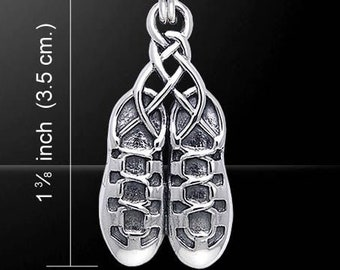 Irish Dance Shoes Necklace, Ghillies Necklace, Celtic Jewelry, Irish Dancer Gift, Celtic Jewelry, Soft Shoe, Irish Jewelry, Dance Jewelry