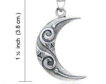 Moon Necklace, Celtic Jewelry, Wiccan Jewelry, Anniversary, Crescent Moon, Moon Goddess, Anniversary Gift, Graduation, Celestial Jewelry