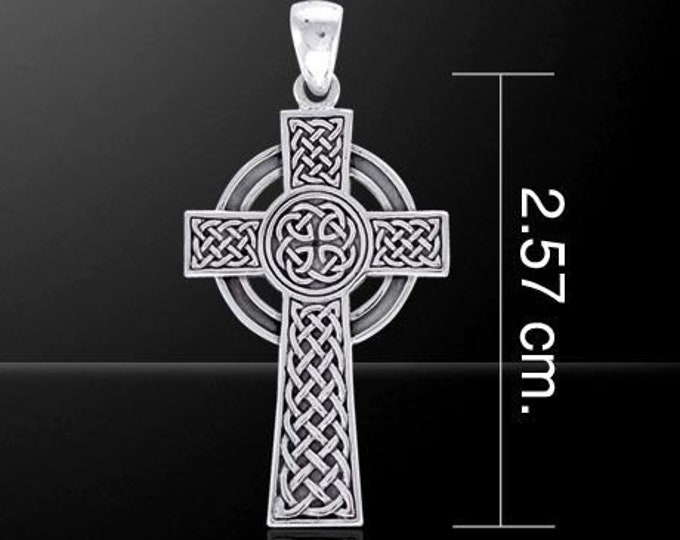 Celtic Cross, Cross Necklace, Celtic Jewelry, Anniversary Gift, First Communion Cross, Baptism Cross, Religious Jewelry, Ireland Jewelry