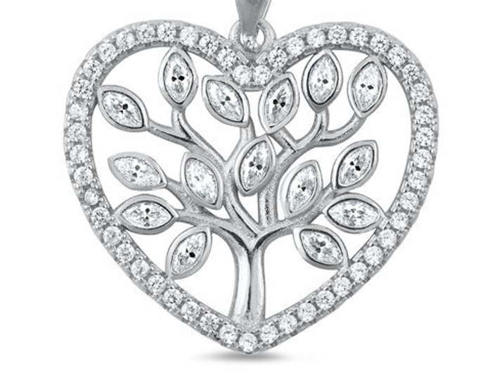 Tree of Life Necklace, Celtic Jewelry, Heart Pendant, Anniversary Gift, Friendship Gift, Graduation Gift, Survivor Gift, Nature Necklace