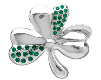 Shamrock Celtic Brooch, Clover Pin, Celtic Pin, Irish Pin, Coat Pin, Scarf Pin, Mother's Day Gift