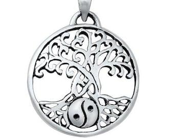 Tree of Life Necklace, Celtic Necklace, Yin Yang Jewelry, Scotland Jewelry, Viking Jewelry, Best Friend Gift, New Age Jewelry, Norse Jewelry