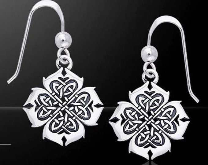 Celtic Knot Earrings, Anniversary Gift, Ireland Jewelry, Wiccan Jewelry, Mom Gift, Wife Gift, Endless Knot Earrings, Scotland Jewelry