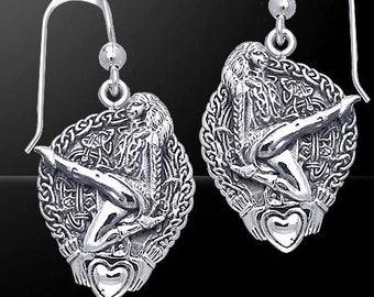 Irish Dancer Earrings, Feis, Step Dancer, Ireland Dance, Ceili, Ireland Dancer, Riverdance, Gift for Her, Celtic Jewelry, Irish Dance Gift