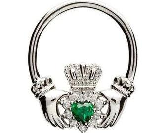 Emerald Isle Claddagh Irish Celtic Necklace, Celtic Wedding, Irish Gift, New Bride, Anniversary, Engagement, Girlfriend, Best Friend, Wife