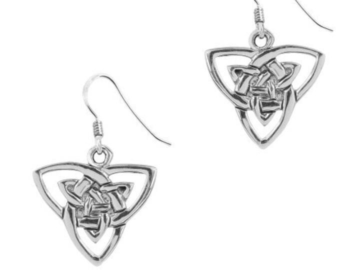 Petite Double Trinity Knot Celtic Earrings