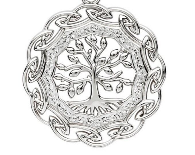 Elegant Sterling Silver Tree of Life Celtic Necklace
