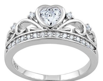 Crown Ring, Celtic Jewelry, Ireland Jewelry, Princess Jewelry, Irish Gift, Tiara Ring, Anniversary Gift, Bridal Jewelry, Sweet 16 Gift