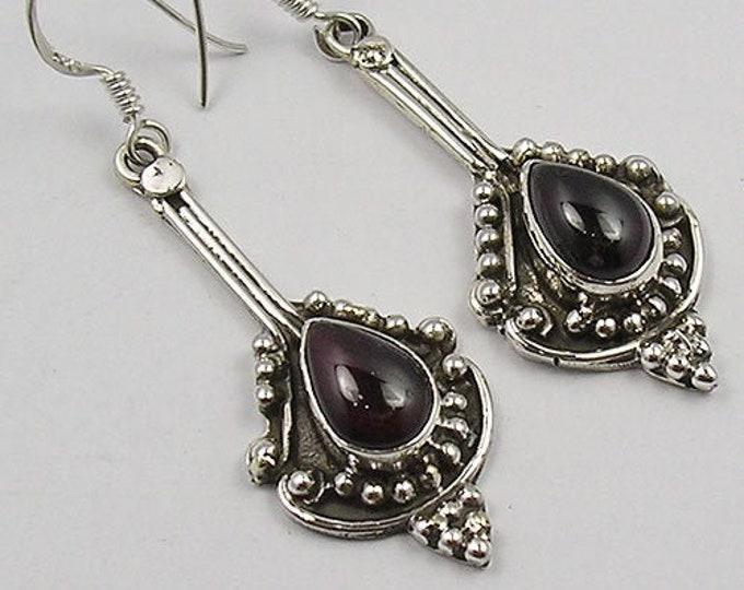 Celtic Earrings, Celtic Jewelry, Irish Jewelry, Celtic Knot Jewelry, Bridal Jewelry, Garnet Jewelry, Scotland Jewelry, Mom Gift