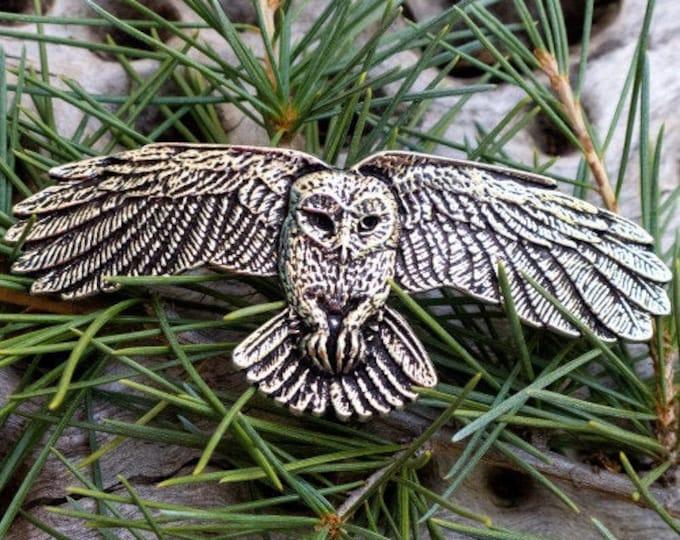Owl Hair Clip, Celtic Barrette, Owl Jewelry, Pagan Jewelry, Friendship Gift, Wiccan Jewelry, Native American Jewelry, Animal Barrette