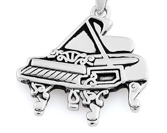 Piano Necklace, Music Jewelry, Baby Grand Pendant, Gift for Her, Musician Gift, Mom Gift, Instrument Jewelry, Pianist Gift, Sister Gift