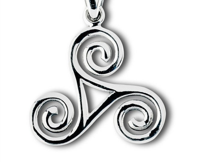 Celtic Spiral Necklace, Celtic Necklace, Gift for Her, Irish Jewelry, Ireland, Girlfriend Gift, Sister Gift, Druid Necklace, Wiccan Jewelry