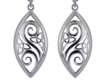 Open Scrollwork Trinity Knot Celtic Earrings, Celtic Wedding, Mother, Sister, Wife, Gift for Her, Valentine's Day, Girlfriend, Wiccan, Pagan