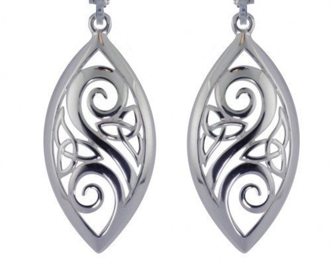 Trinity Knot Earrings, Celtic Wedding, Mom Gift, Sister Gift, Wife Gift, Gift for Her, Ireland Jewelry, Girlfriend Gift, Wiccan Jewelry