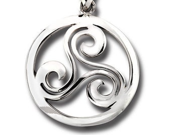 SC4283 15 Spiral Charms Antique Silver Tone 2 Sided Maze Celtic Swirl