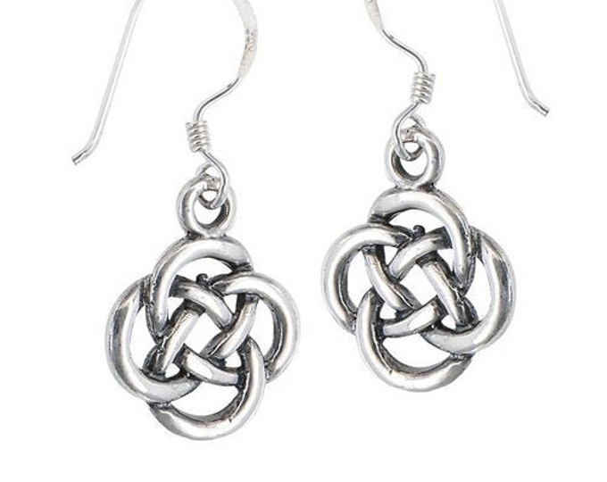 Dara Knot Celtic Earrings, Celtic Jewelry, Gift for Her, Irish Jewelry, Mom Gift, Sister Knot, Celtic Knot, Wiccan Jewelry, Norse Jewelry