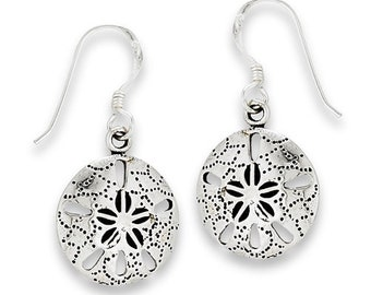 Sand Dollar Earrings, Seashell Jewelry, Nautical Jewelry, Retirement Gift, Gift for Her, Christian Jewelry, Nature Jewelry, Beach Jewelry
