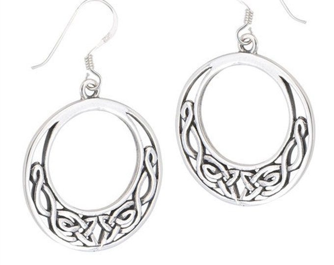 Celtic Knot Earrings, Irish Jewelry, Mom Gift, Anniversary Gift, Wiccan Jewelry, Sister Gift, Girlfriend Gift, Wife Gift, Hoop Earrings