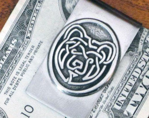 Bear Money Clip, Celtic Knot Jewelry, Bear Jewelry, Dad Gift, Anniversary Gift, Gift for Him, Boyfriend Gift, Brother Gift