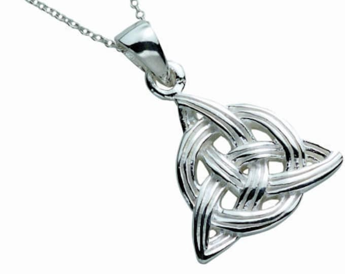 Trinity Knot Necklace, Celtic Jewelry, Anniversary Gift, Celtic Knot Jewelry, Girlfriend Gift, Wiccan Jewelry, Irish Jewelry, Pagan Necklace