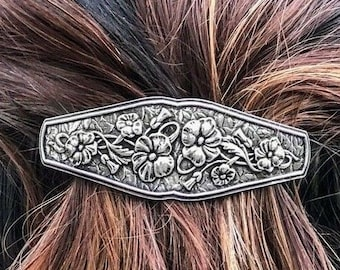 Celtic Garden Hair Clip, Celtic Barrette, Flower Jewelry, Welsh Jewelry, Friendship Gift, Wiccan Jewelry, Wales Jewelry, Nature Barrette
