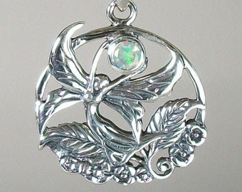 Fairy Necklace, Celtic Necklace, Irish Jewelry, Butterfly Necklace, Anniversary Gift, Celtic Jewelry, Wiccan Gift, Wife Gift