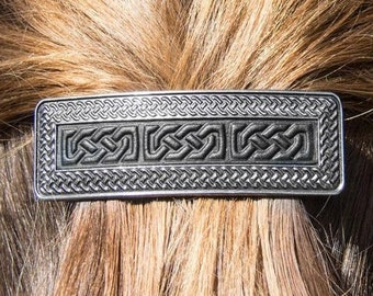Celtic Knot Clip, Celtic Barrette, Celtic Knot Jewelry, Pagan Jewelry, Friendship Gift, Wiccan Jewelry, Norse Jewelry, Shield Knot Barrette
